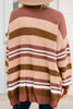 It's All From Love Blush Pink Striped cardigan