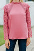 Enjoying Life Rose Pink Lace Blouse