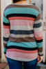 knotted hem striped top