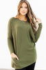 long sleeve solid tunic with pockets