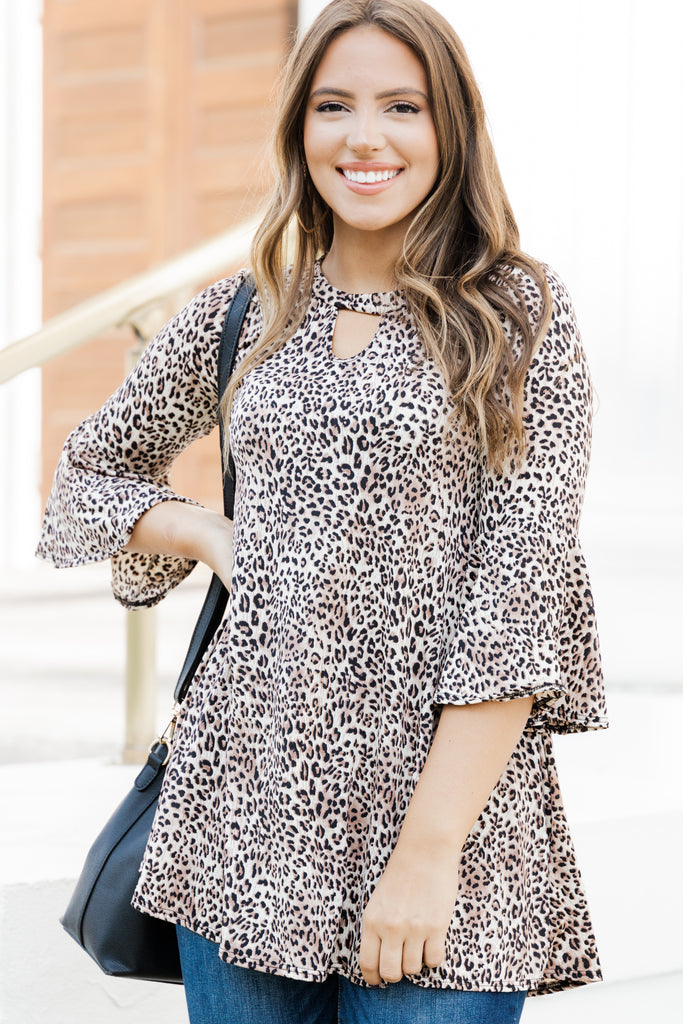Uniquely You Brown Leopard TUnic