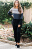 Send Your Love Charcoal Gray Colorblock Top