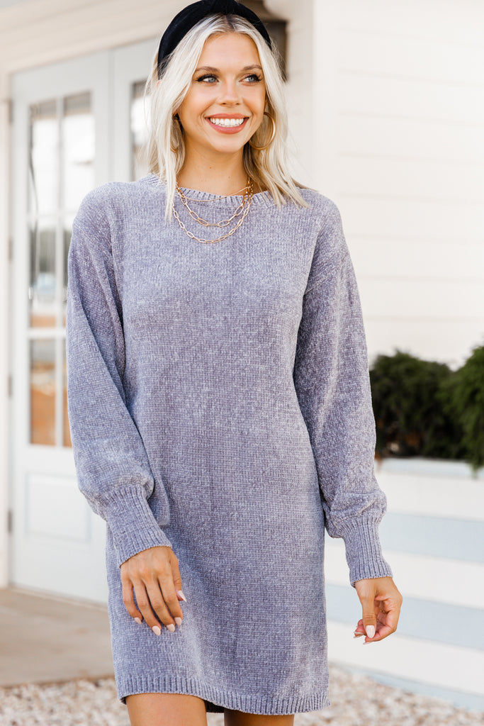 chenille sweater dress