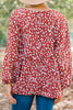 Just Imagine Marsala Pink Spotted Blouse