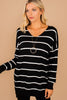 striped classic sweater