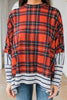 plaid oversized poncho top