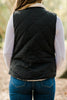 Off To the Mountains Black Reversible Vest