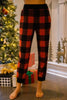 In The Right Place Red and Black Buffalo Plaid Leggings