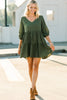 solid babydoll dress