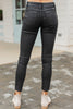 sleek black skinny jeans