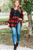 buffalo plaid long sleeve top