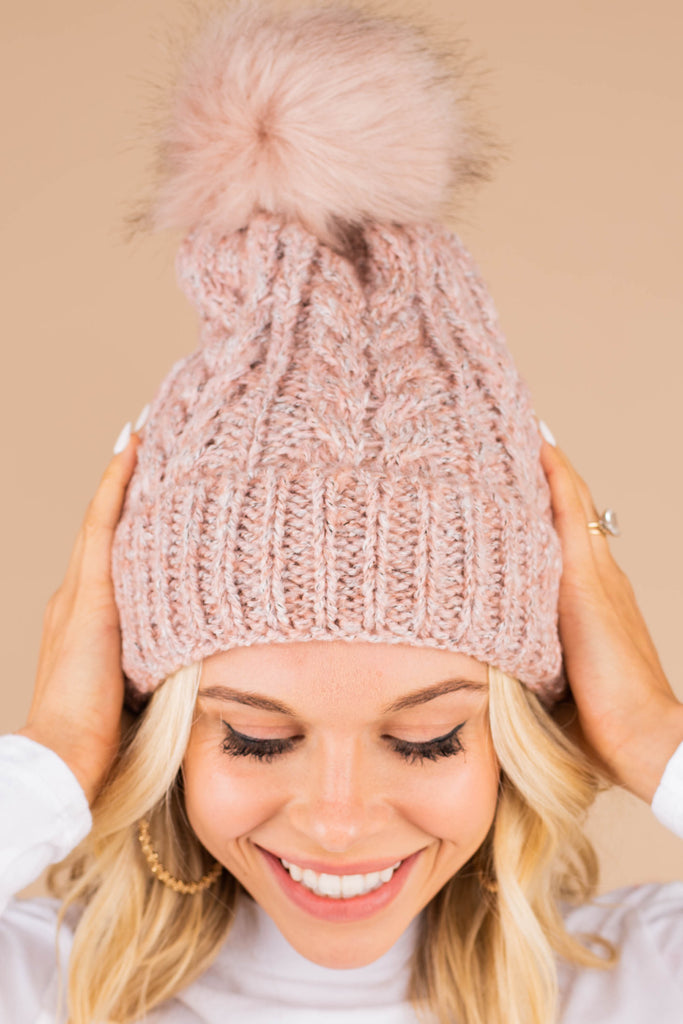 Good Thinking Pink Lined Beanie