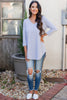 3/4 sleeve versatile top