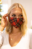 tartan plaid face mask