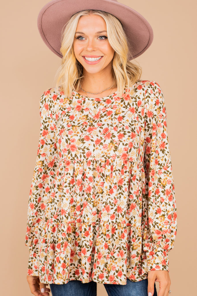 babydoll ditsy floral top