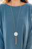 marble pendant tassel necklace