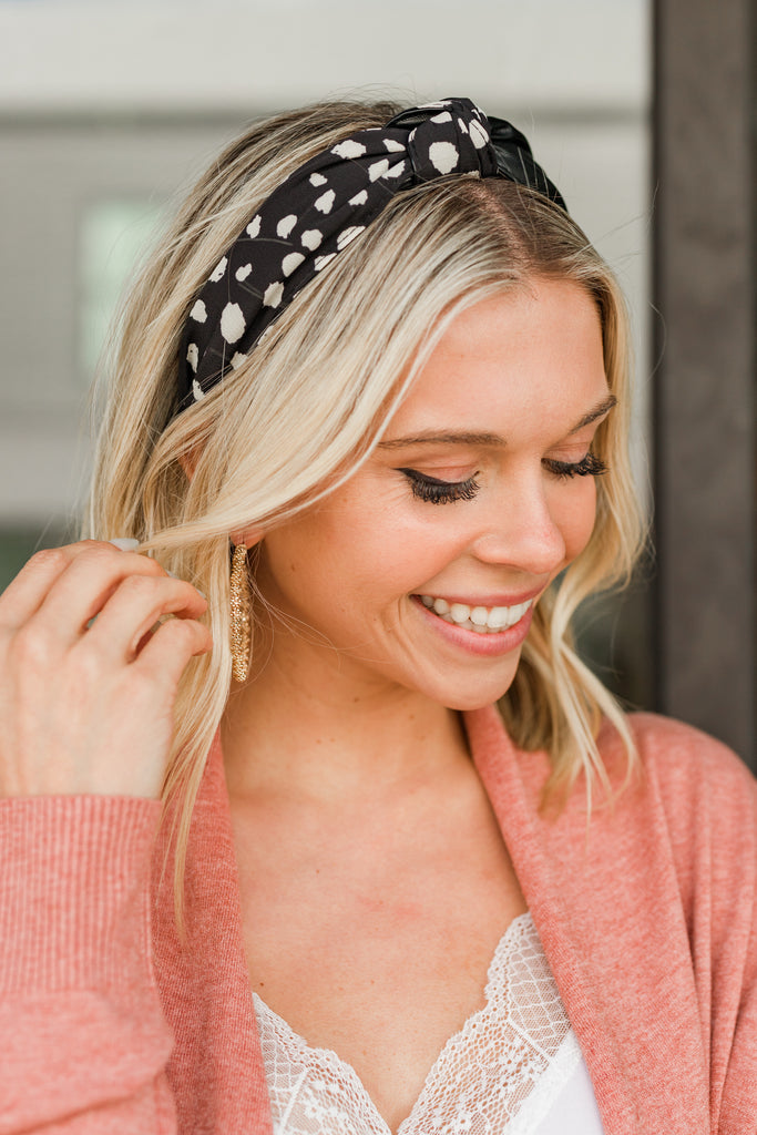 spotted knotted headband