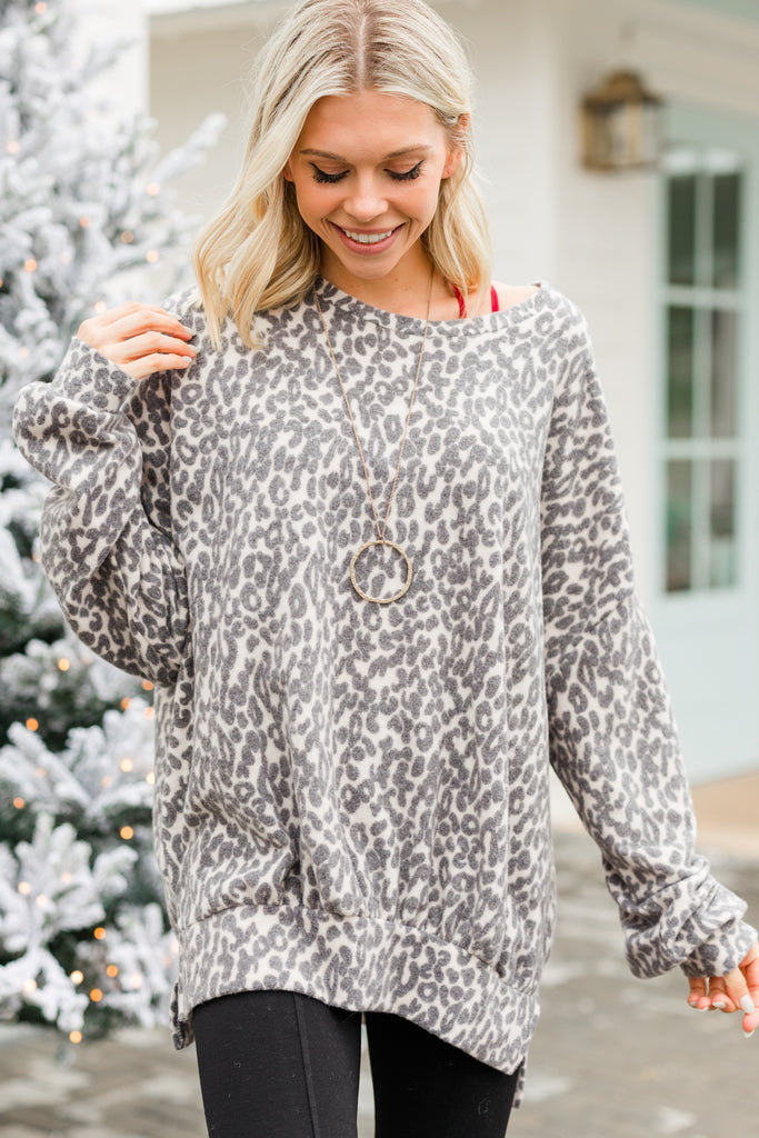 Perfect Opportunity Tan Brown Leopard Pullover