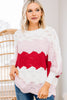 colorblock loose knit sweater