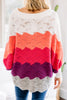 Search For Fun Pink Colorblock Sweater