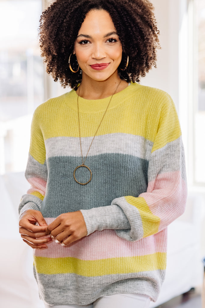 colorful colorblock sweater