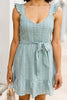 ruffled tied waist dress