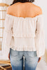 Let Me Love You Ivory White Ruffled Top
