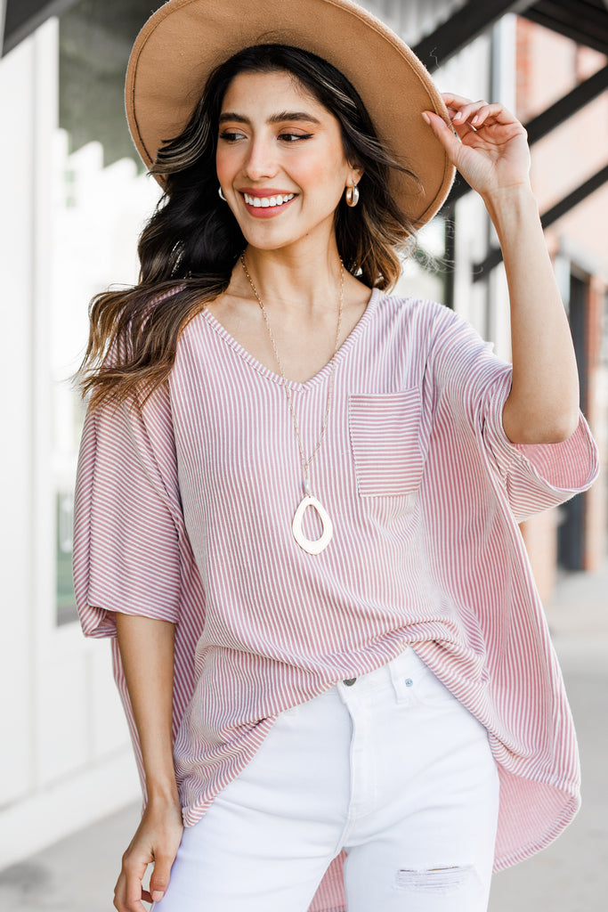 casual striped relaxed top