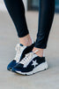 star print athleisure sneakers