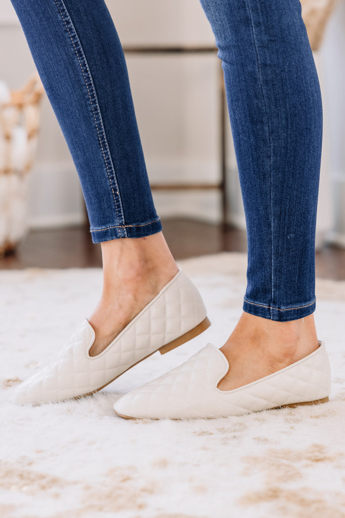 Dreaming Of You Cream White Loafers