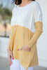 long sleeve colorblock pocket tunic