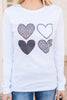 leopard print heart graphic tee