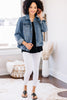 Get Their Attention Medium Wash Denim Jacket