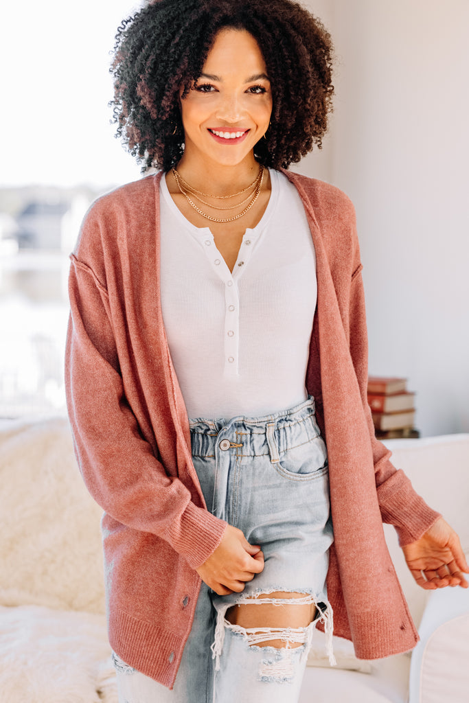 solid button down cardigan