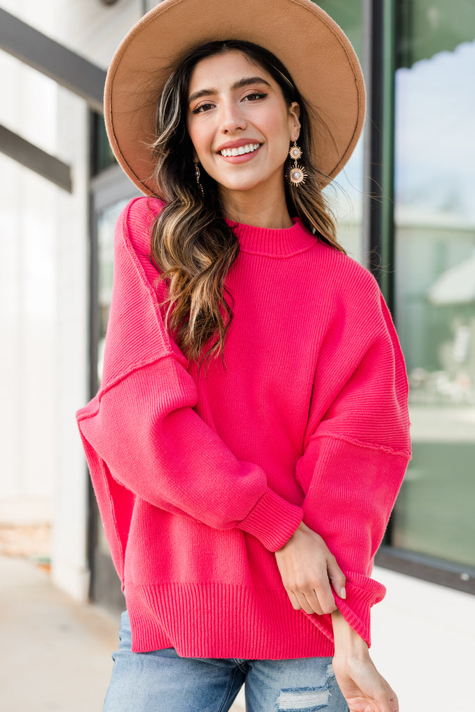 relaxed fit vibrant sweater