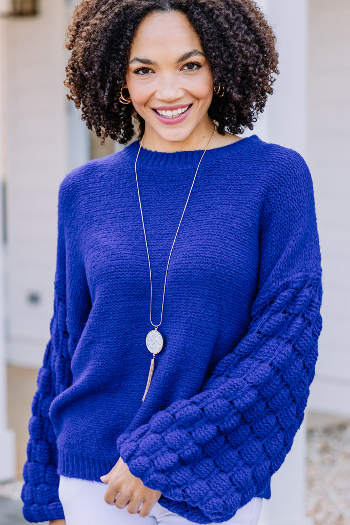 dramatic bubble sleeve sweater