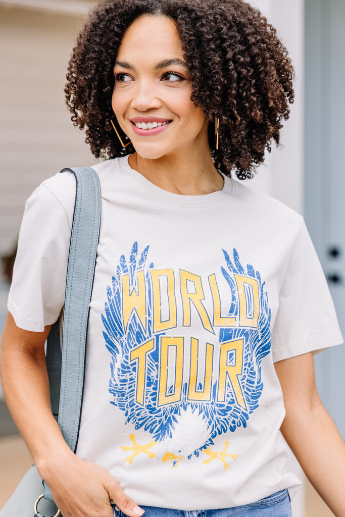 World Tour Bone White Graphic Tee
