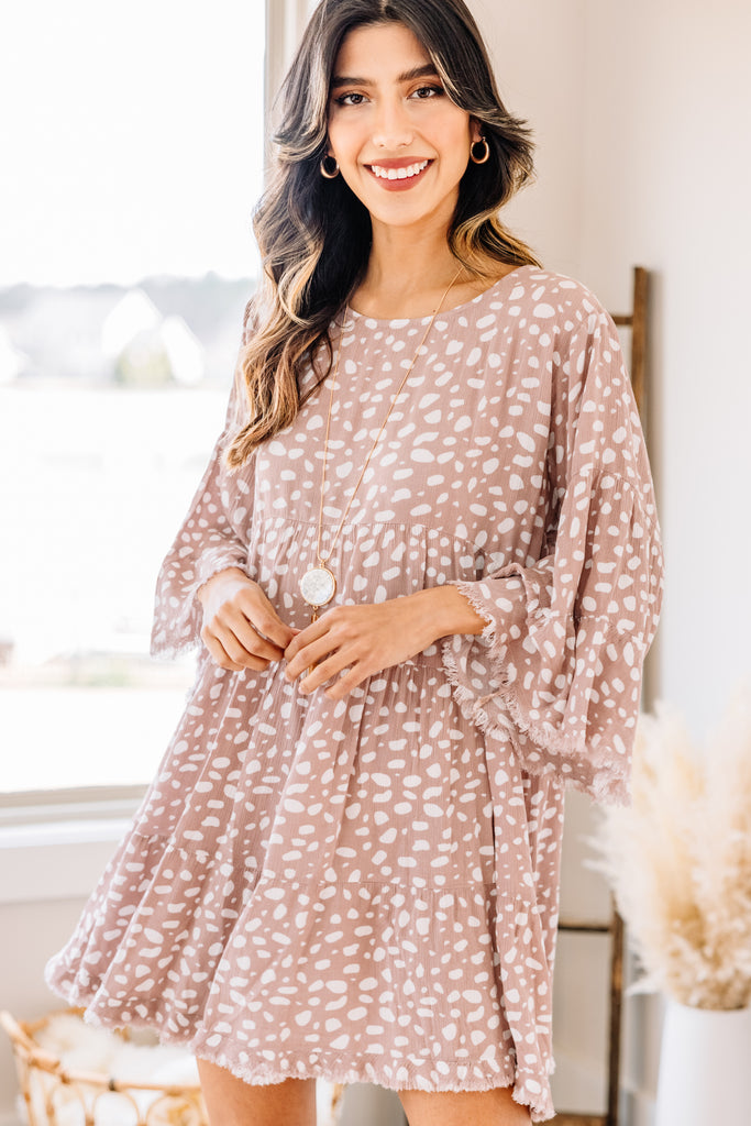 spotted tiered dress