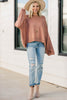 relaxed fit bell sleeve sweater