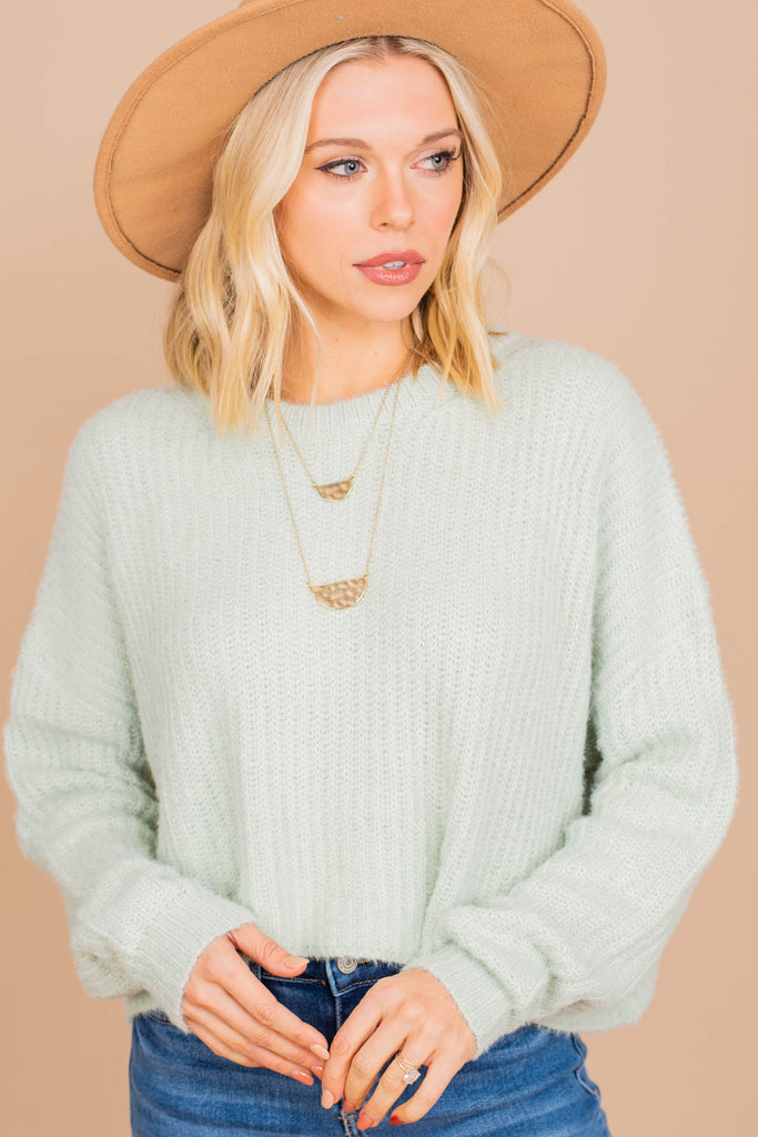long sleeve crop sweater