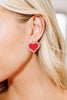 beaded heart stud earrings