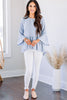 blue peplum blouse