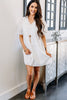 puff sleeve babydoll dress