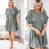 Fit For You Dusty Green Ditsy Floral Dress