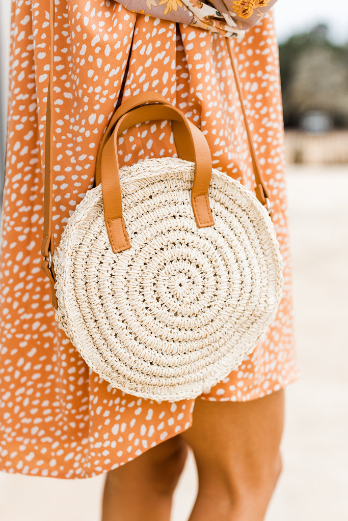 natural straw round crossbody