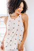 textured polka dot tank