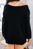 causal comfy black sweater