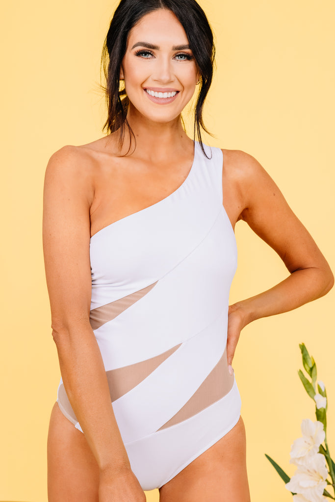 mesh cutout one piece swimsuit