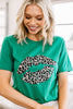 leopard St. Paddy's Day graphic tee