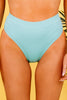 high waist blue bikini bottom
